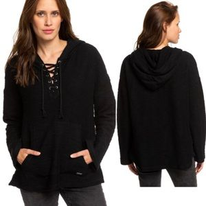 Roxy Young Would You Believe Poncho Hoodie Sweater